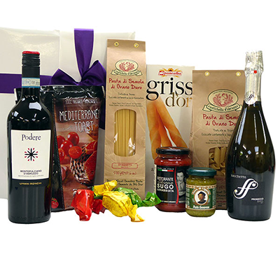 Order Italian gift packages and have them delivered at home