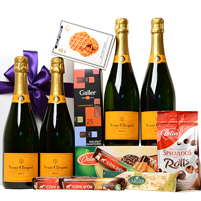 Order a luxury champagne package and have it delivered as a promotional gift